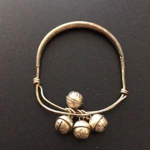 Sterling silver Tibetan child's bracelet
